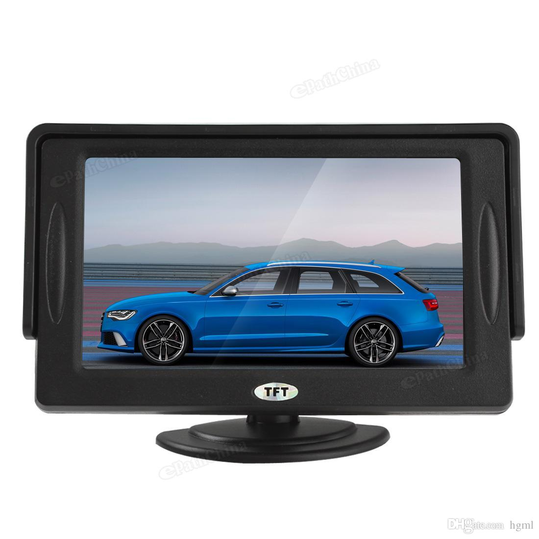 Mini 4.3'' Color Car Parking monitor rear view monitor for DVD VCD Camera mirror monitor Screen 2 Video Input CMO_356