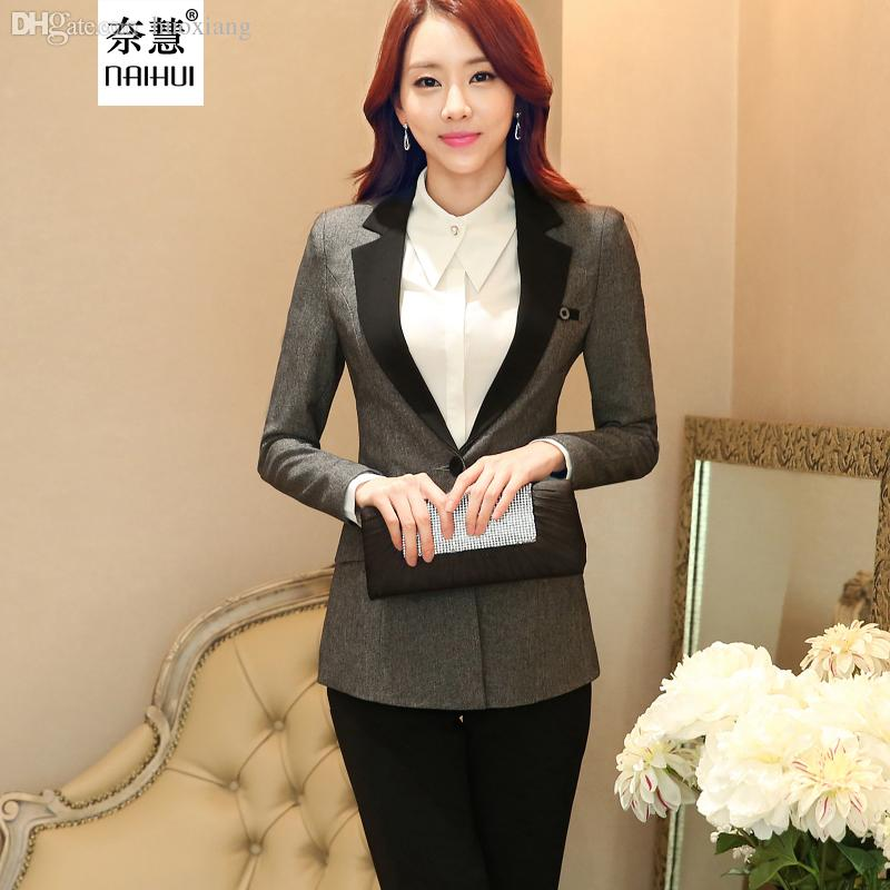 Wholesale-women Business Suits Blazer with Trousers Formal Office ...