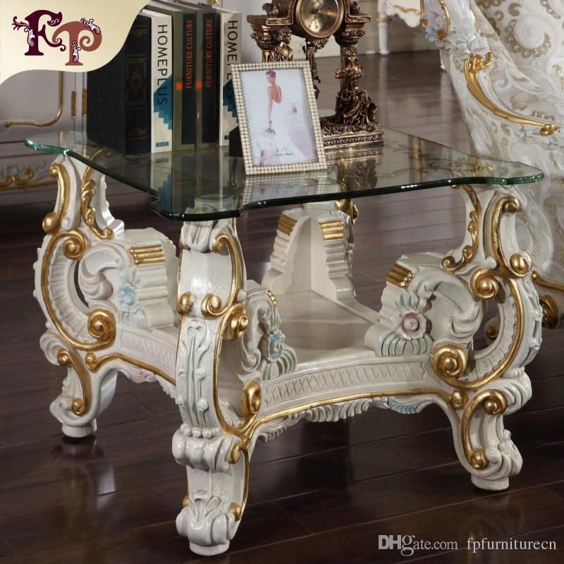 Luxury Classic Living Room Furniture European Classic Coffee Table Italian Square Table
