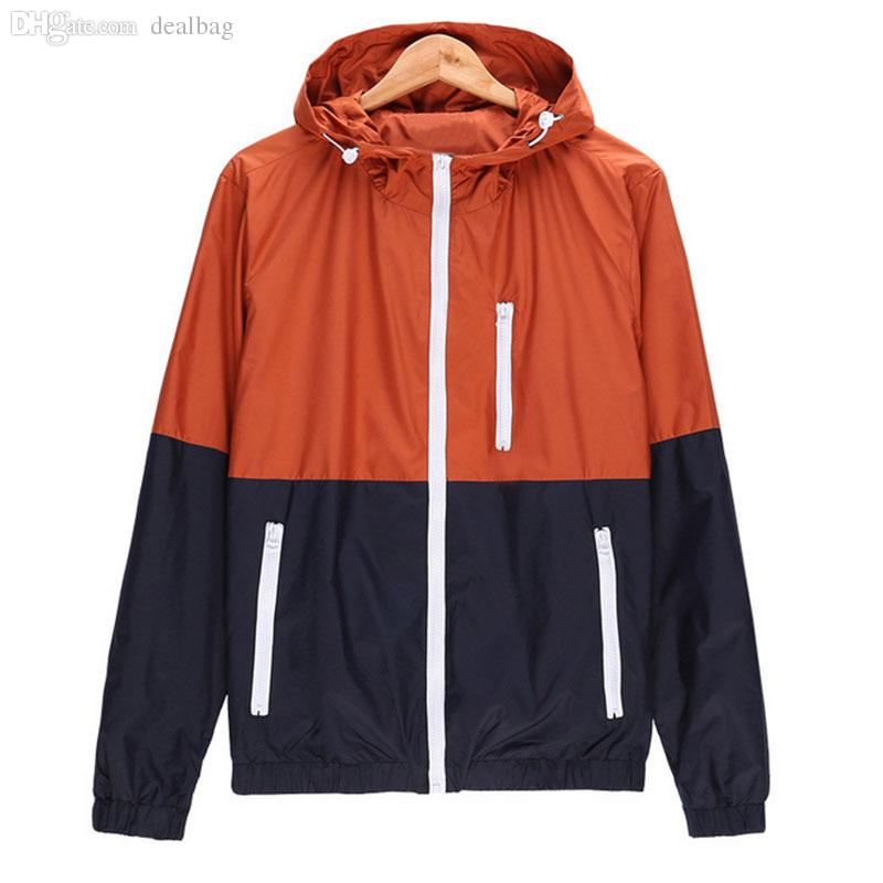 Fall-Men's Windbreaker Jacket Men's Casual Hooded Sweater Coat ...