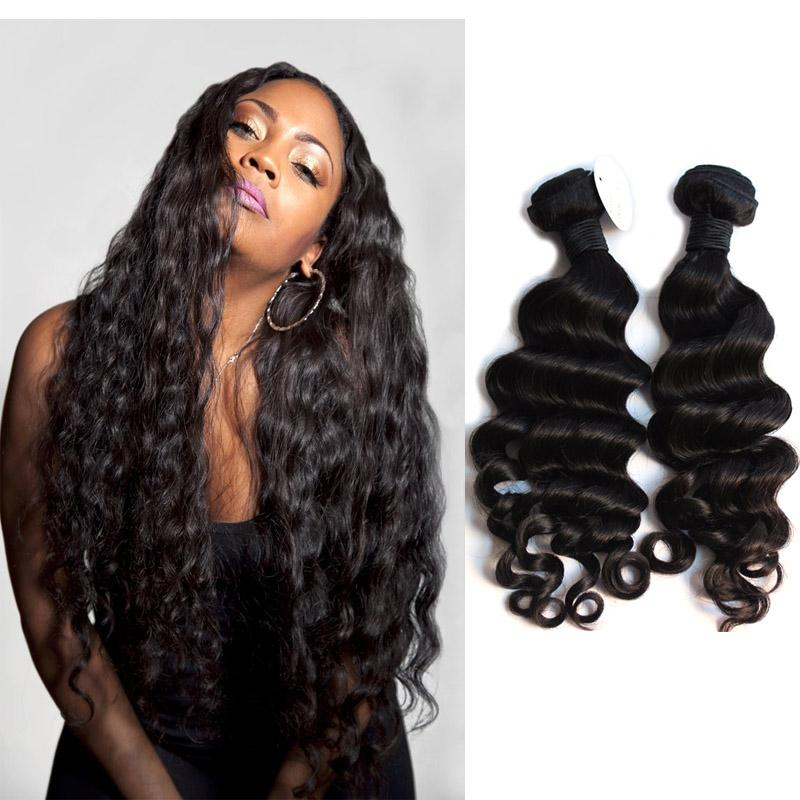 Stupendous Peruvian Virgin Hair Loose Curl Weave 8A Unprocessed Human Hair Hairstyles For Men Maxibearus