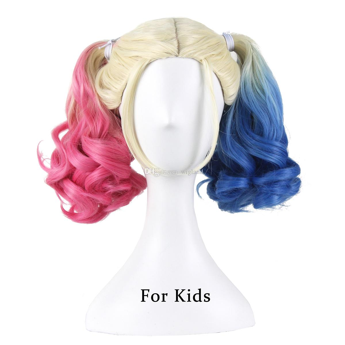 Harley Quinn Wig For Kids Blue And Pink And Blondedyed