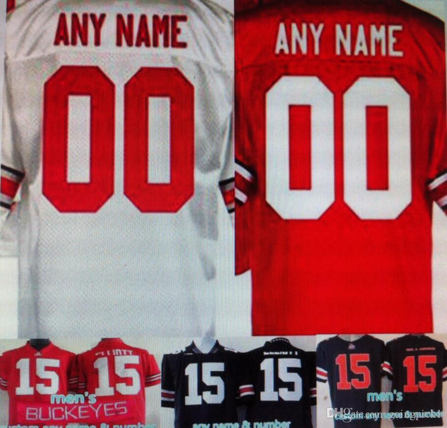 2017 customized ohio state buckeyes shirt personalized for Custom football jersey shirts