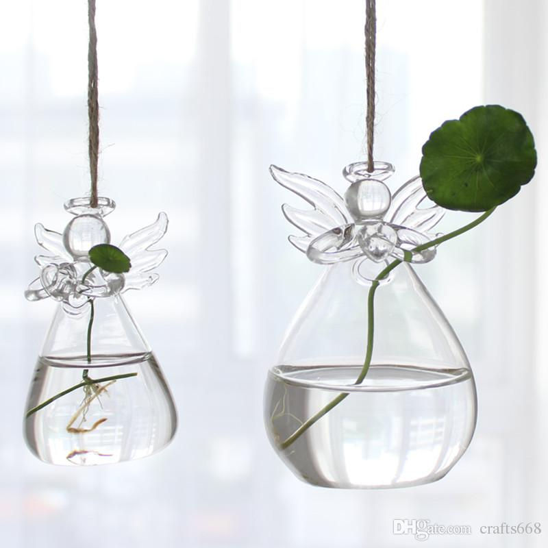 american style decorative glass flowers glass vases home decoration angel flower vases wedding decoration birthday - Decorative Glass Vases