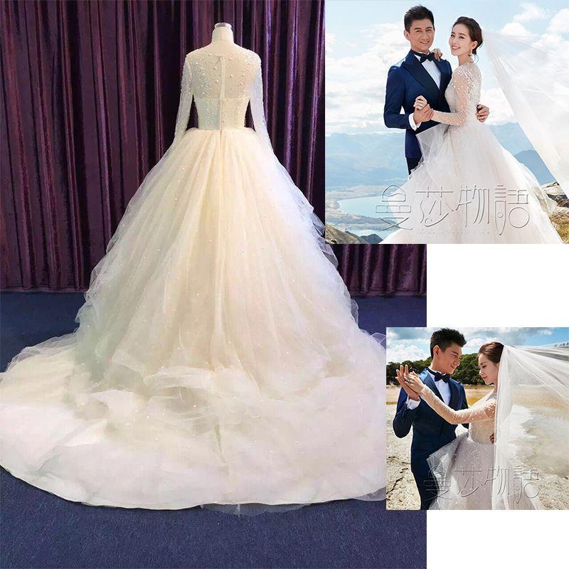 Wedding Korean Star: Liu Shishi Star With A Wedding Dress The Bride 2016 New