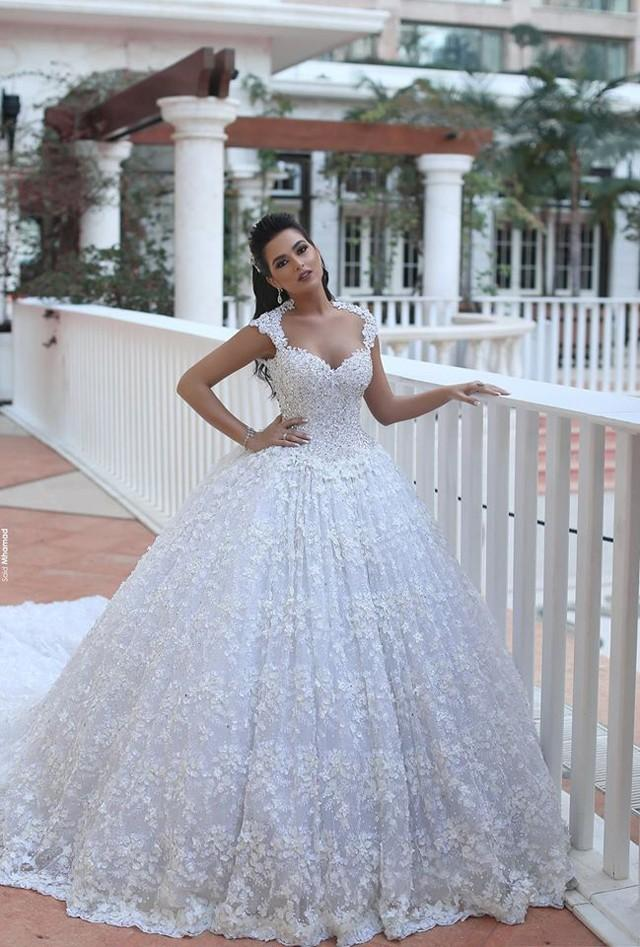 2016 Cheap Arabic A Line Wedding Dresses Sweetheart