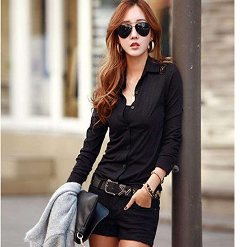 Online Cheap Button Down Shirt For Women Wear Work Office Ladies ...