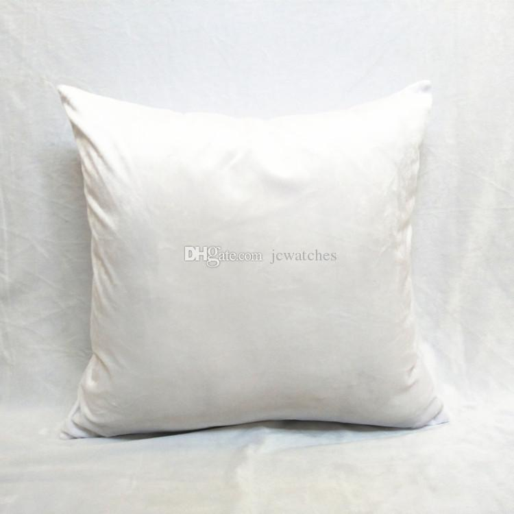 Diy Blank Pillow Cover Square Throw Pillow Back Cushion Cases For Print Wholesale White Pillow ...