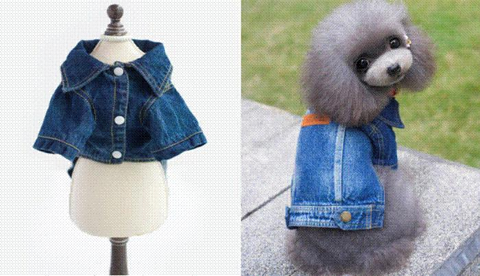 Best Quality Super Cute Jeans Dog Clothes Yorkshire Chihuahua ...