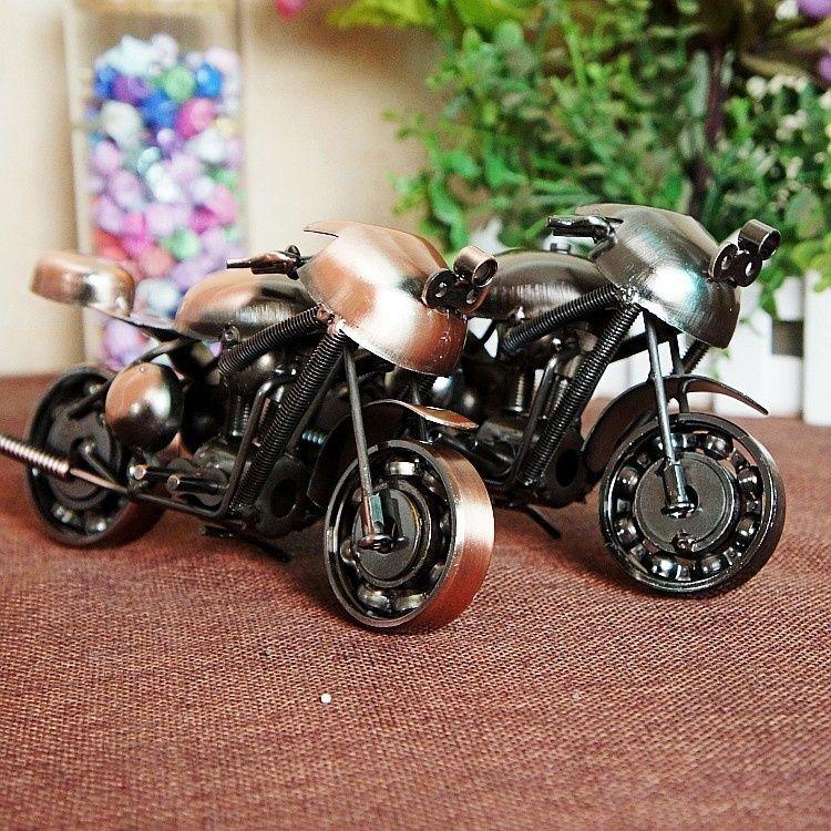 Online cheap handmade metal model motorcycles iron