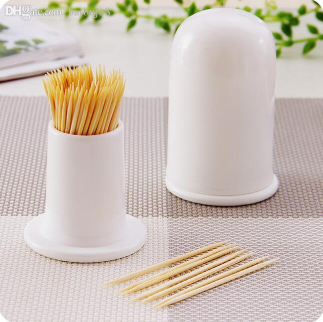 Wholesale white ceramic toothpick holder household toothpick dispenser fashion tableware tooth - Tooth pick dispenser ...