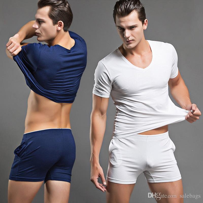 Discount Mens Pajamas Shorts   2017 Mens Pajamas Shorts on Sale at ...