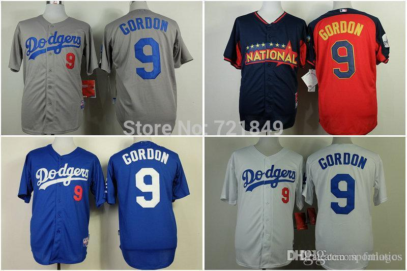 los angeles dodgers 9 dee gordon white jersey .