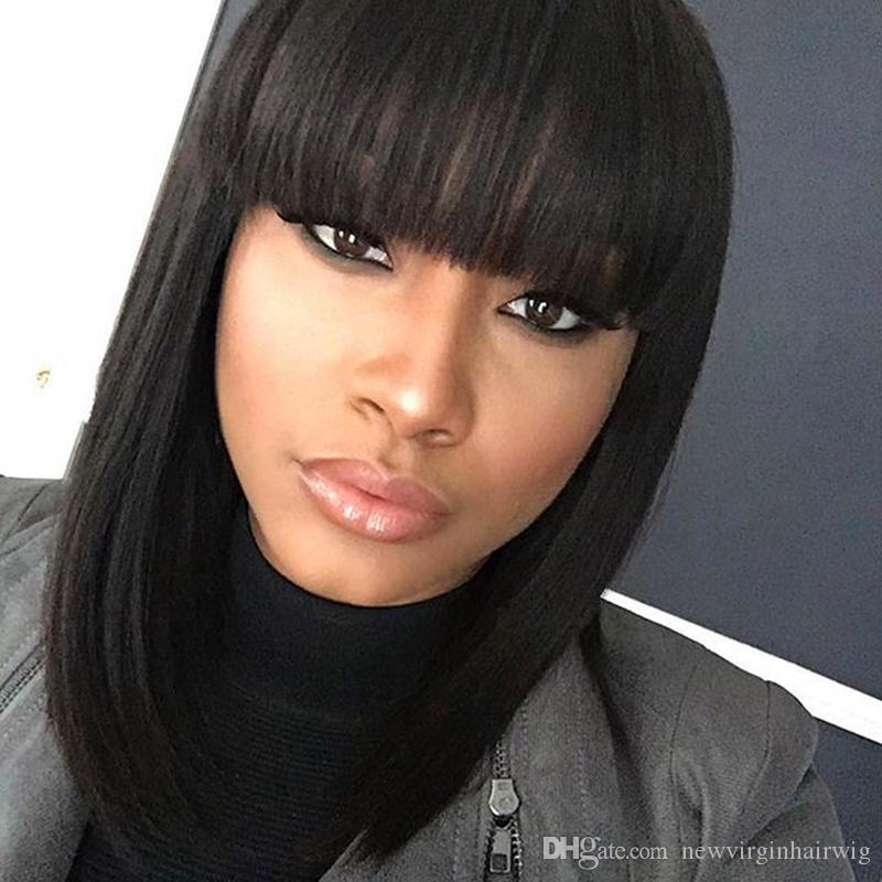 Brazilian Weave Hairstyles With Bangs