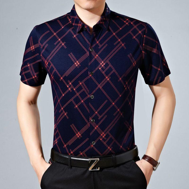 2017 wholesale summer men 39 s short sleeve shirt business for High end mens shirts