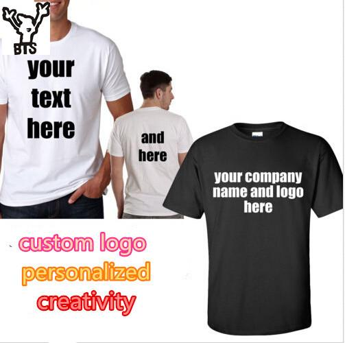 Wholesale- BTS Custom T Shirt Printed Personalized T-Shirts ...