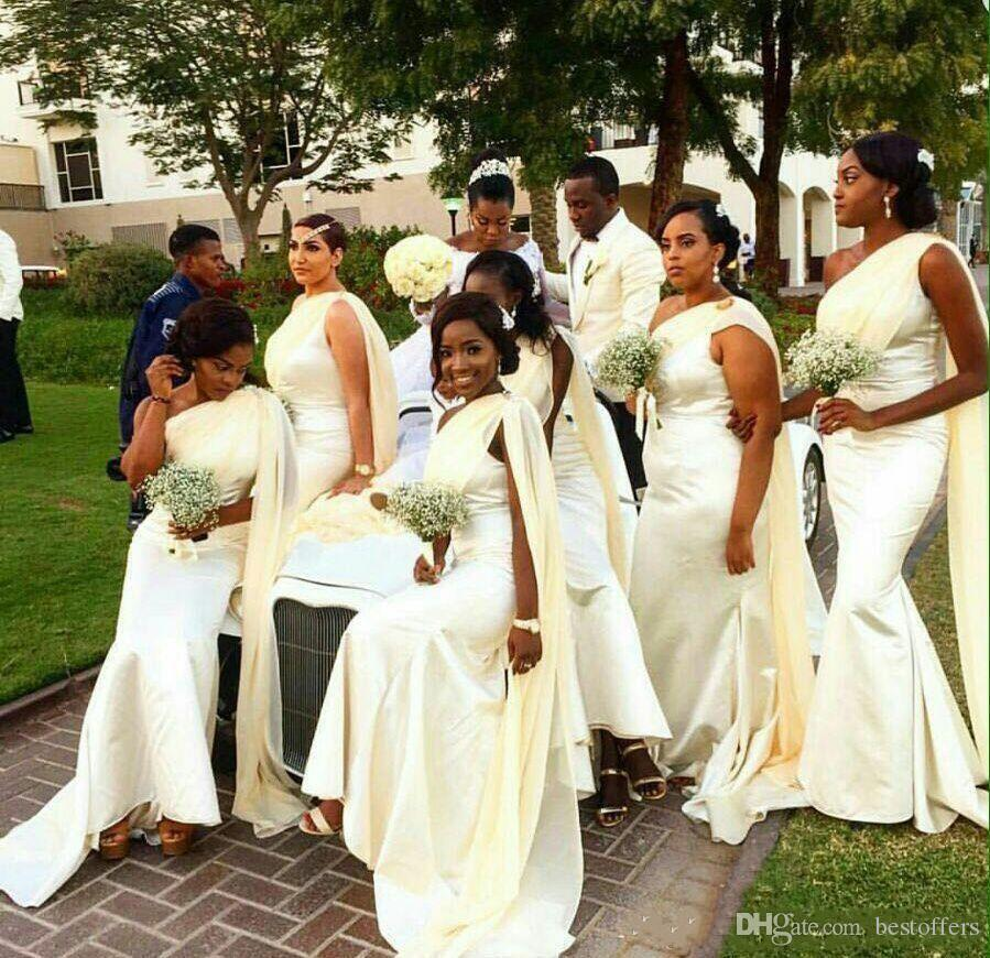 Wedding Dresses 2017 In South Africa : New one shoulder arabic bridesmaid dresses south