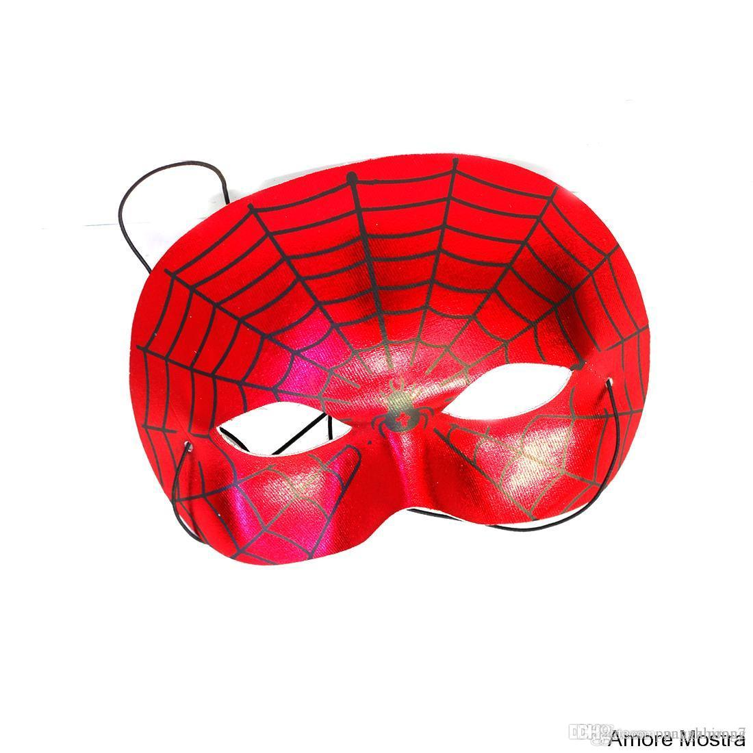 Red Spider Man Mask Halloween Mask Party Games Mask ...