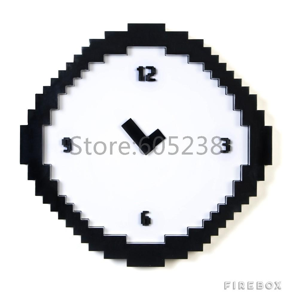 Worksheet Online Time Clock Free ems wholesale pixel time clock retro wall buy large free shipping 50pieces clock
