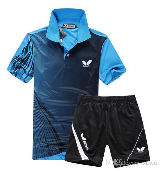 2017 butterfly table tennis jersey short t shirt lapel for Table tennis shirts butterfly
