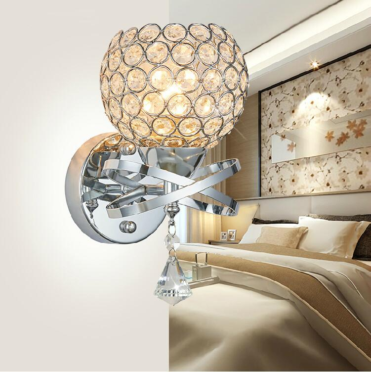 modern lustre crystal wall lamps bedroom bedside led wall lights bathroom light arandela antique luminaire for home high quality light in the china light