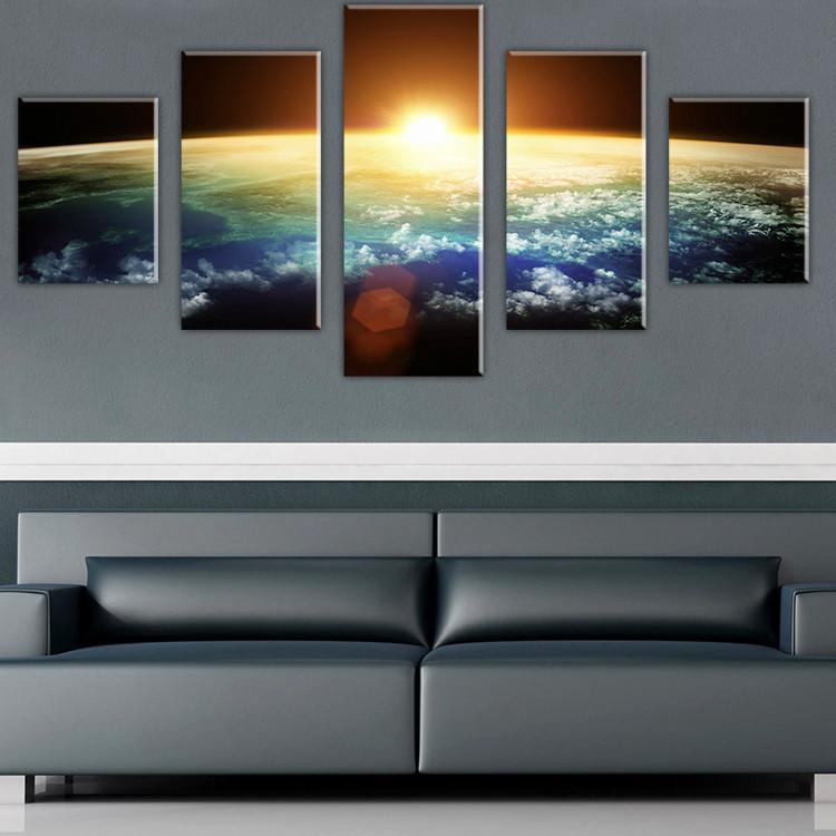 2017 Without Framed Large Hd Space View Scape Canvas Print ...