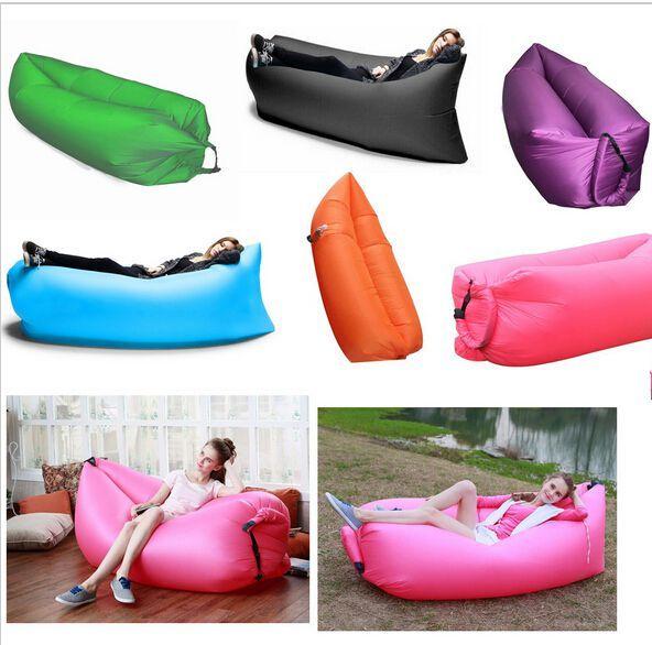 Inflatable beach sofa lamzac bean bag nylon fabric balloon for Sofa hinchable lamzac