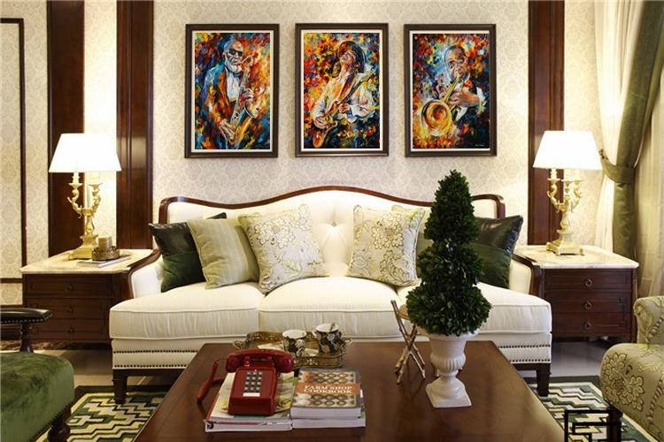 Scenery Canvas Painting Posters Home Decor By Leonid Afremov Palette Knife Oil Painting Musical Band Guitar