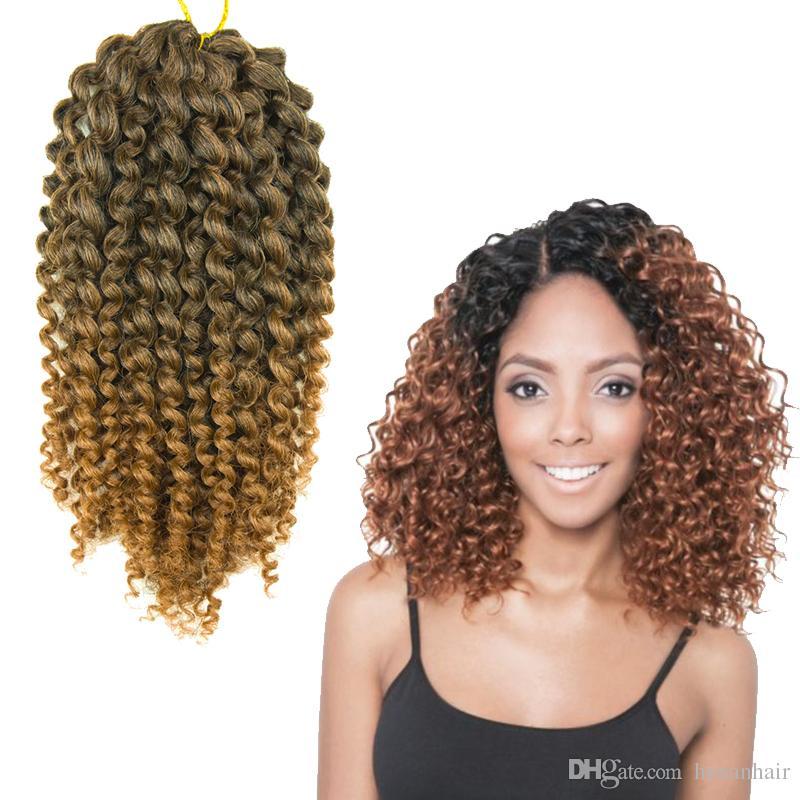 Crochet Braids Curly Bob : MALI BOB 3PCS SET Jerry Curly Twist Crochet Braiding Hair for Black ...