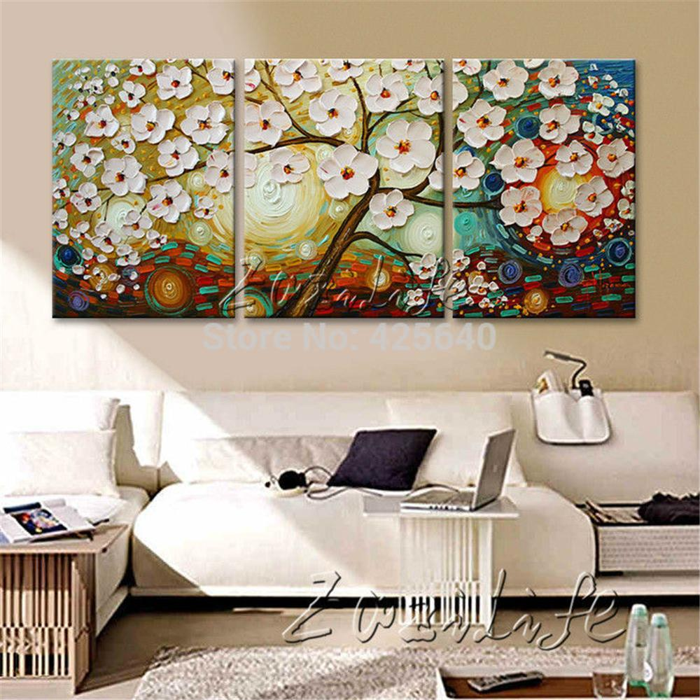 Modern Wall Paintings Living Room 2017 Oil Painting 3 Panel Canvas Cuadros Decoracion Wall Art