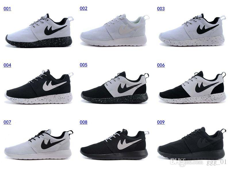 pzrccl Roshe Run Oreo All Black All White Mix Rosherun Id Factory Outlet