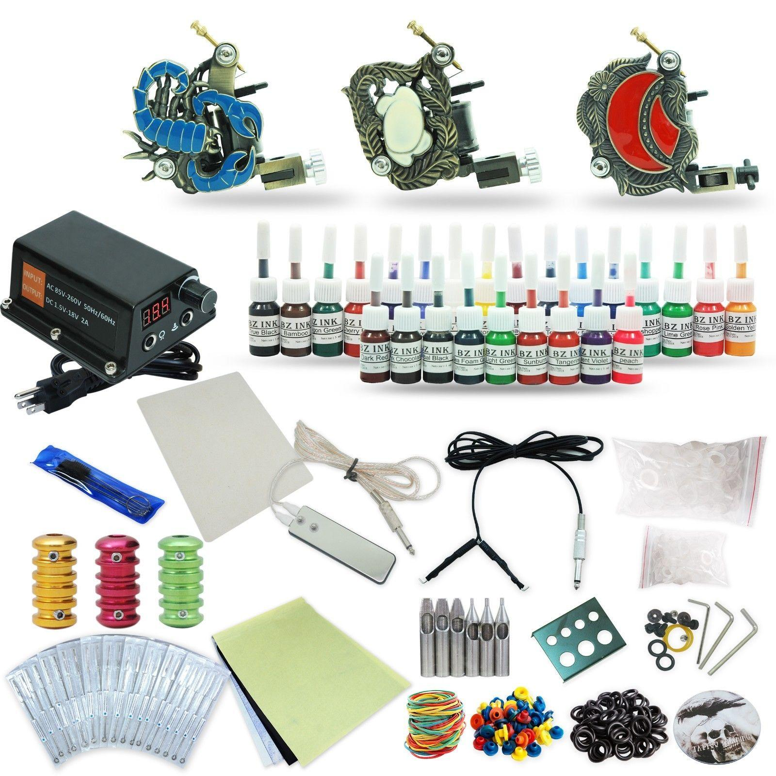 Good quality best price usa complete tattoo kit 3 machine for Best tattoo starter kit