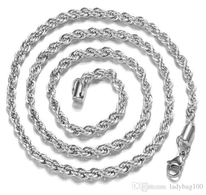 New Arrival 925 Sterling Silver Necklace Chaînes 2MM 16-30 pouces Pretty Cute Fa