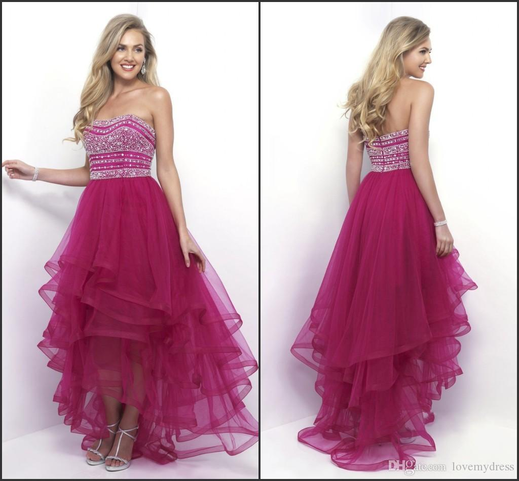 Top Sale Beadings Sequin Dress Party Wear Tiered Skirt Fuchsia ...