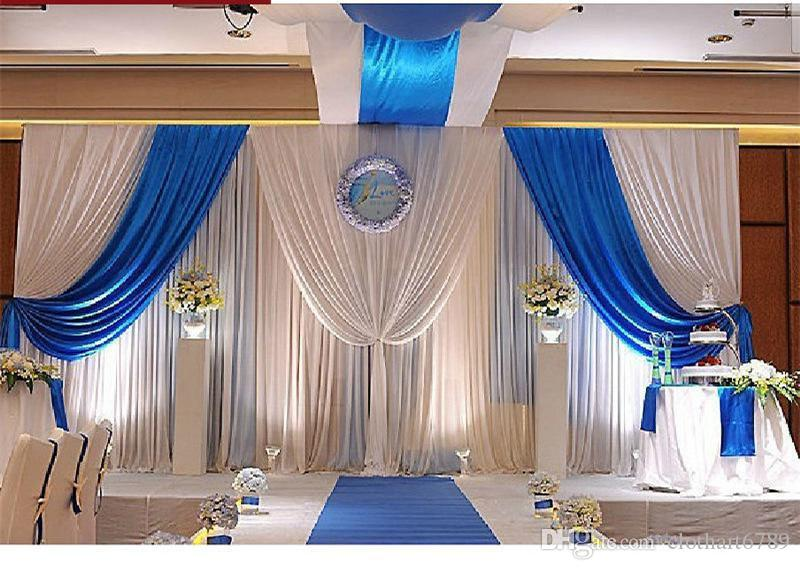 3m 6m 10ft 20ft wedding backdrop swag party background for Backdrop decoration for church