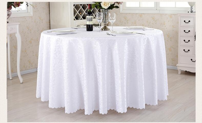 hotel restaurant tablecloth with wash gold restaurant meeting sarong round table cloth 180cm more color white hot selling table cloth polyester round table