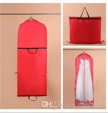 Wedding dress gown bags high quality white dust bag long for Wedding dress travel case