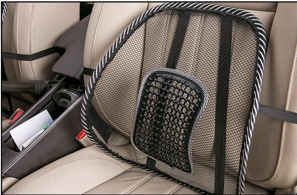 new arrival hot sell black cool car seat chair back lumbar support mesh ventilate massage. Black Bedroom Furniture Sets. Home Design Ideas