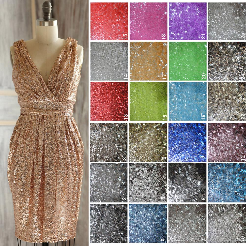 Sparkly rose gold bridesmaid dresses short 2017 sequins for Sparkly beach wedding dresses