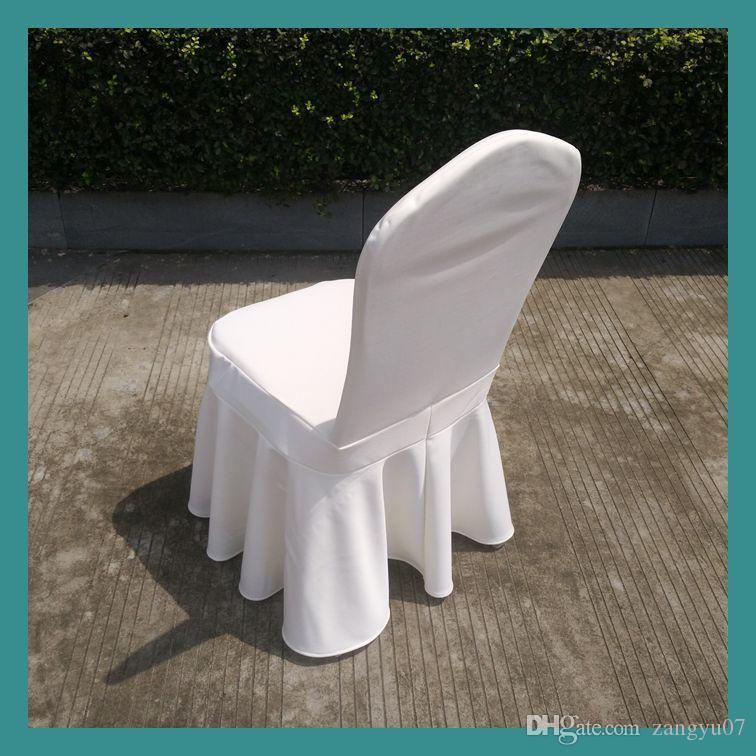 wholesale white wedding spandex chair cover skirt chair cover