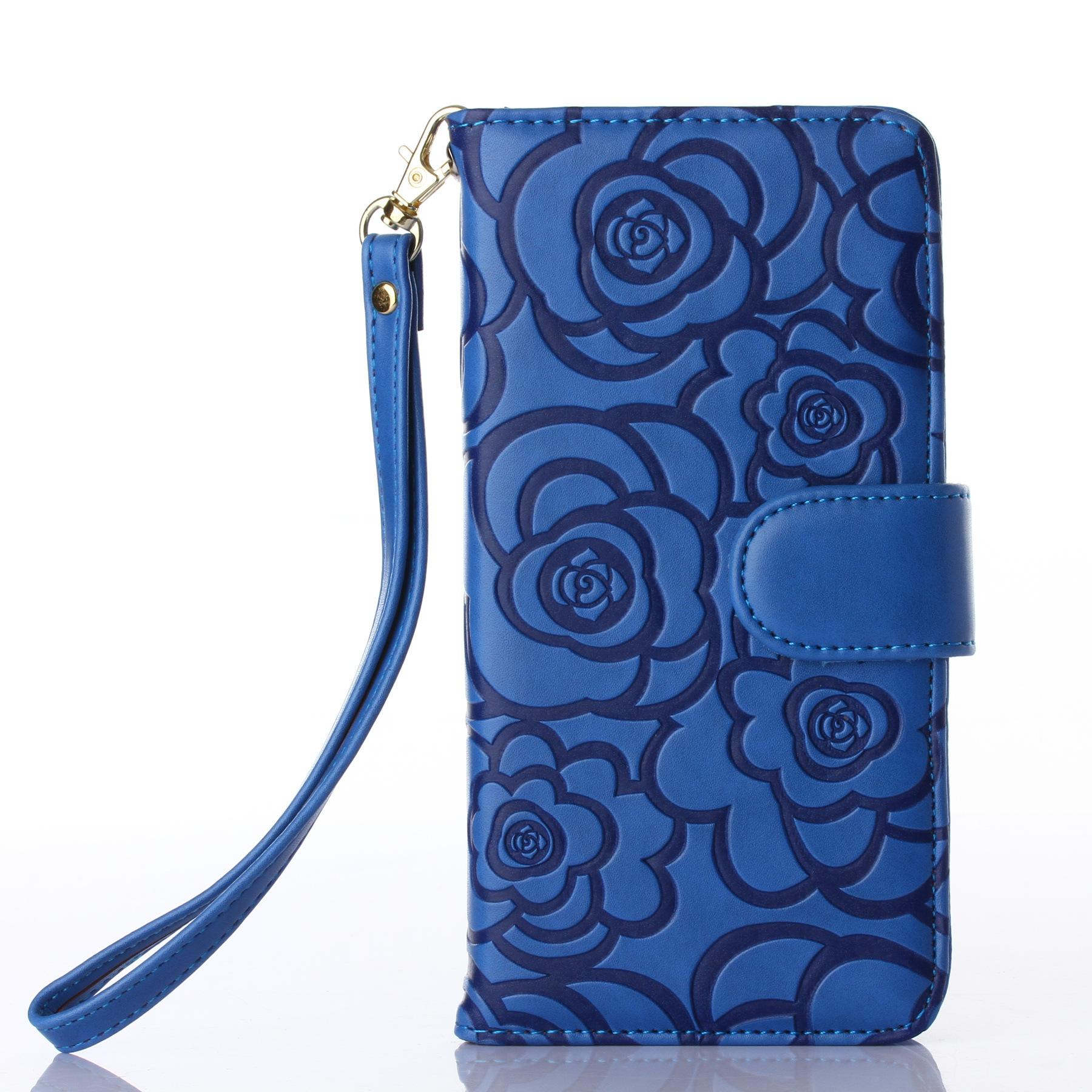 cool wallet leather case for iphone 5 6 6s 7 7s plus samsung glaxy s7 edge 3d flower pattern. Black Bedroom Furniture Sets. Home Design Ideas