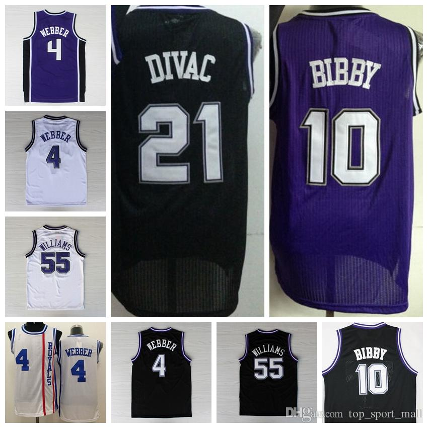 2016 Retro 10 Mike Bibby Jersey Hommes Rev 30 Mode 55 Jason Williams Throwback S