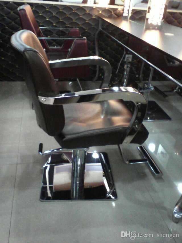 2017 stainless steel base salon chair barber chair barber for Salon equipment prices