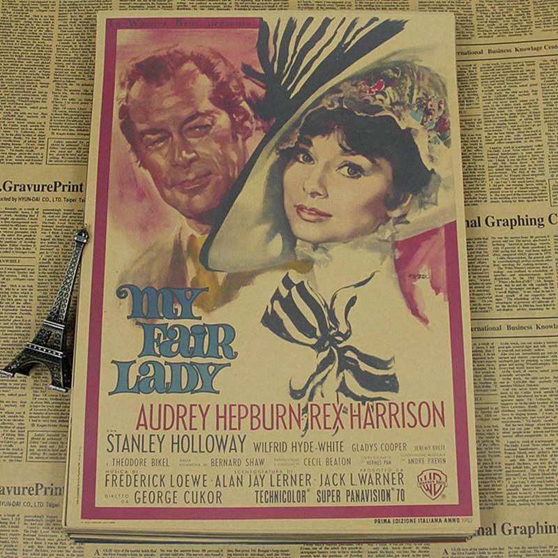 Online cheap sun86 audrey hepburn vintage movie poster - Cuadros audrey hepburn ...