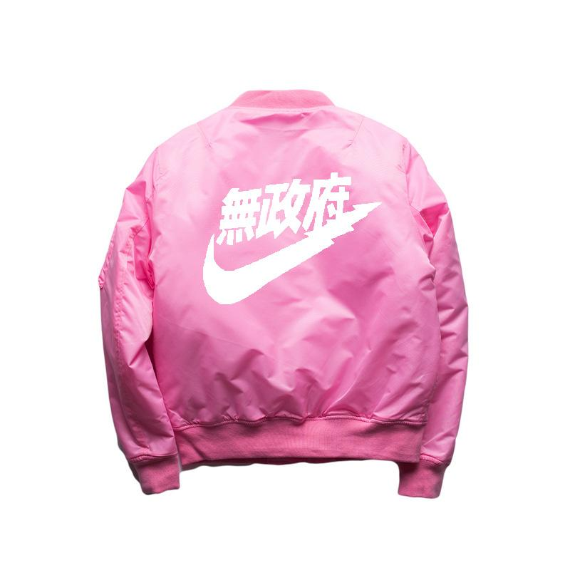 2016 Spring Hip-Hop Street West Ma1 Pink Bomber Jacket Homme Season 3 Air Force