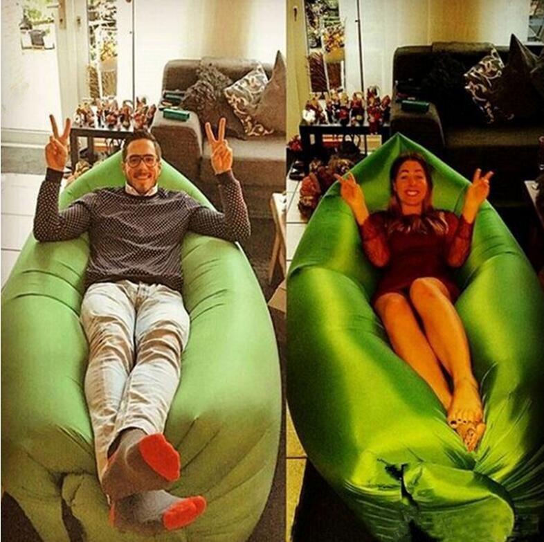 2016 hangout inflatable sleeping bags camping equipment for Sofa hinchable lamzac