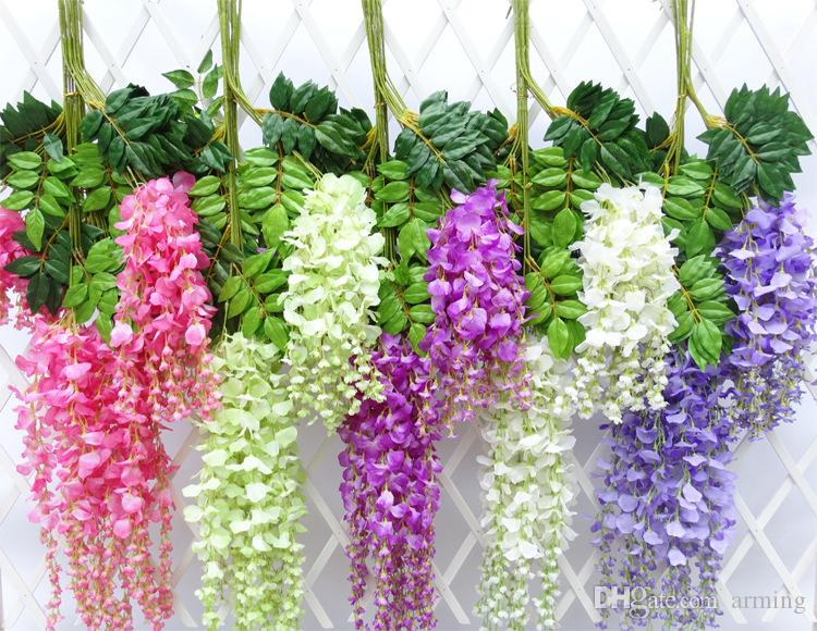 2017 Wholesale Wisteria Wedding Decor 110cm 75cm