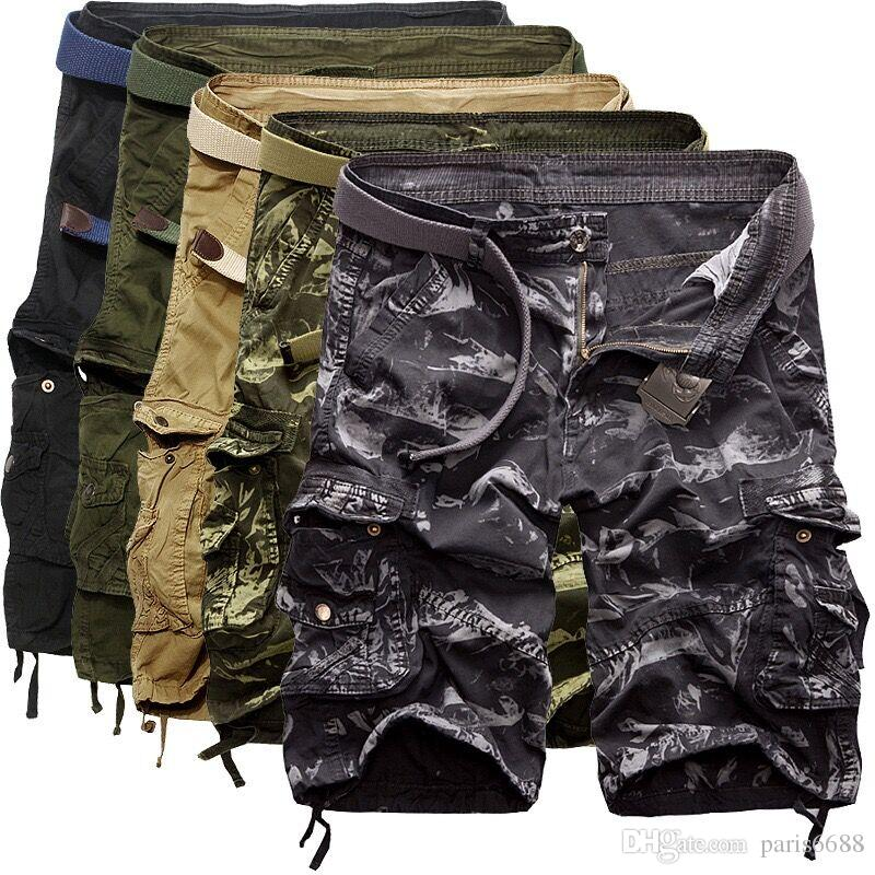 Hot vente Camouflage / Camo Cargo Shorts militaires Men Outdoor Cotton vrac Shor