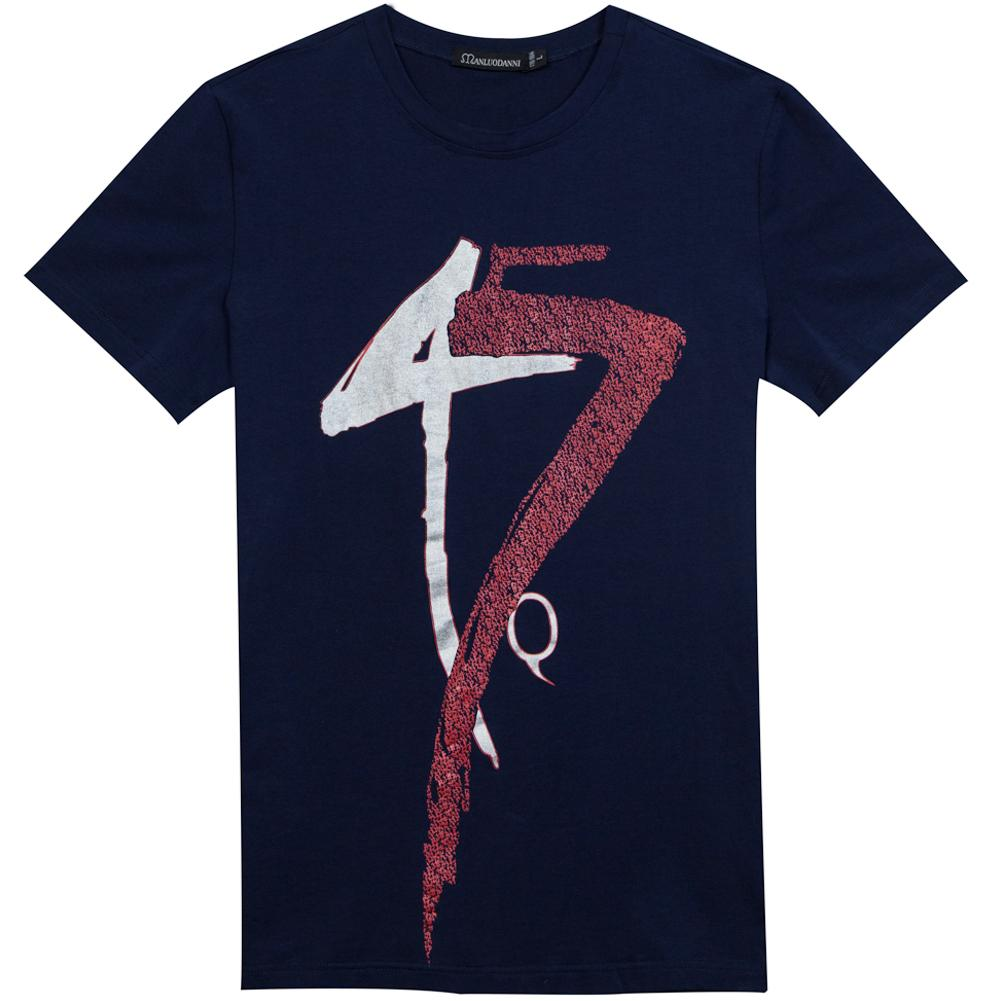 Mens summer t shirt cotton print tee clothing short sleeve for On site t shirt printing