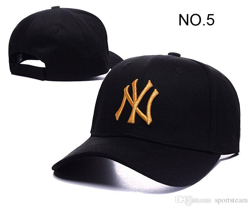 2016 New Fashion Baseball Cap Casual NY Peaked Caps extérieur Loisirs Curved sna